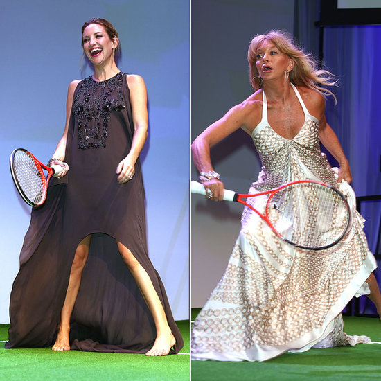 Kate and Goldie Play Tennis in Their Ball Gowns!