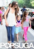 Suri Cruise Leads Katie Holmes on a Big Apple Playdate