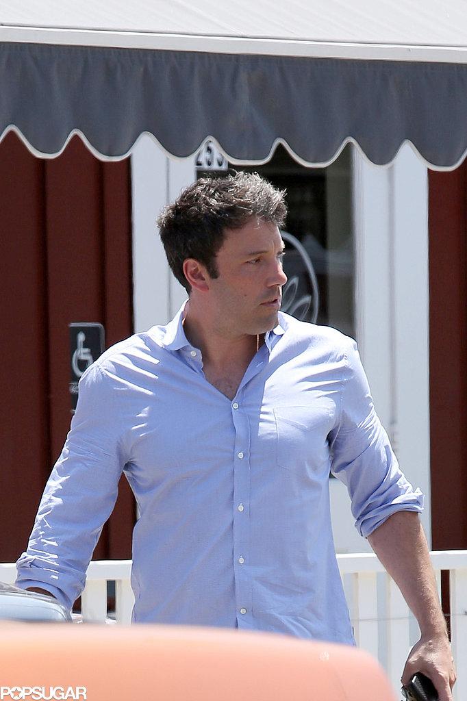 Ben Affleck left lunch in LA.