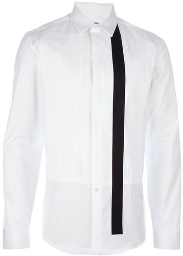 Givenchy printed pleated shirt