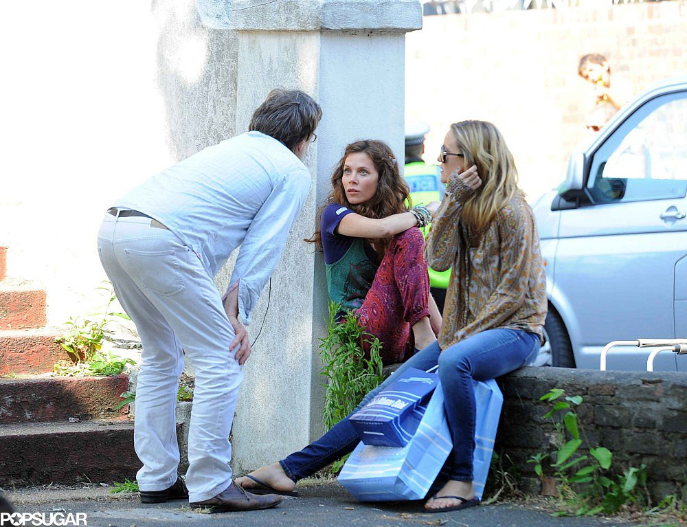 Kate Hudson filmed scenes with Anna Friel for Good People.
