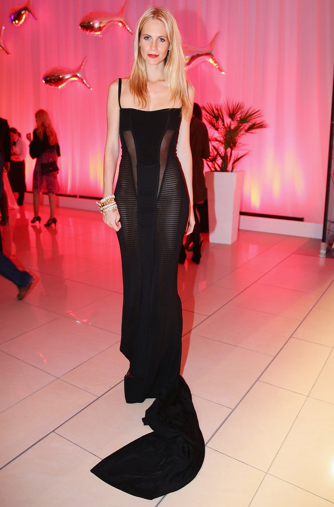 Poppy's not afraid to channel her sexier side, like she did here in a sheer-inset black gown at a party in Italy in April.
