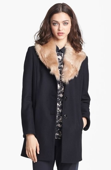 Want to dabble in fur this Fall? Look no further than the Torre Jacket ($795) with its ultraluxe collar.