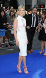 Rosamund Pike was prim, proper, and oh-so fresh in her white dress at the London premiere of The World's End . . .