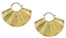 Jessica Simpson Shimmering Oasis Goldtone Wave Earrings