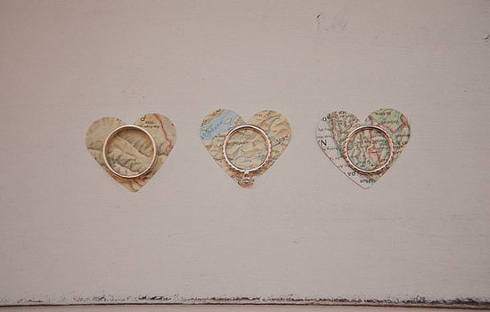 Map Hearts For Rings