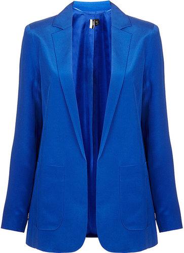 Modern Tailoring Silk Blazer