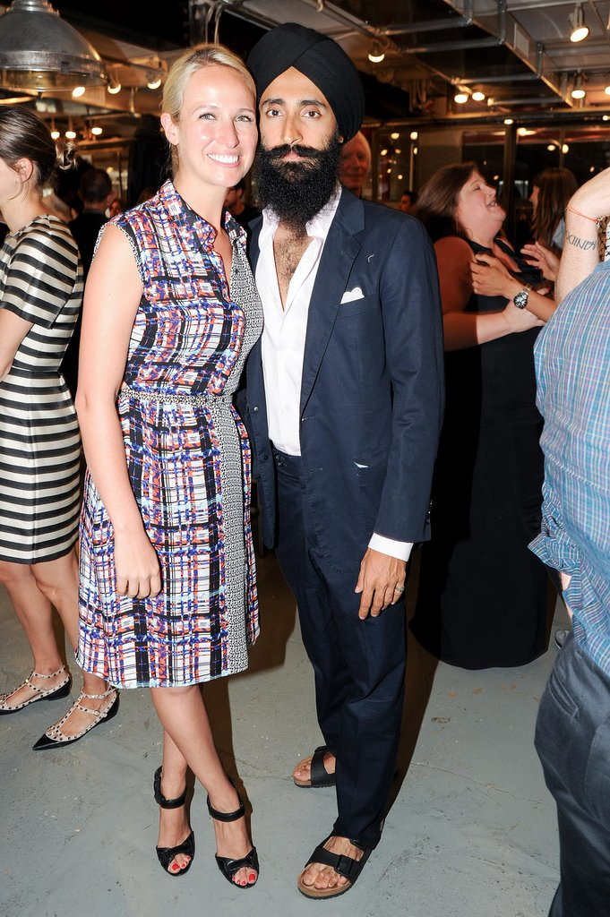 Misha Nonoo was a vibrant addition to Waris Ahluwalia's pared-down designs at the CFDA/Vogue Fashion Fund fete for this year's finalists.