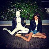 Alexa Chung showed off her spot-on mannequin impersonation. Source: Instagram user derekblasberg