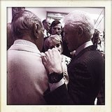 Two American icons: Oscar de la Renta and Bill Clinton. Source: Instagram user oscarprgirl
