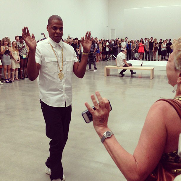 When Jay-Z staged a performance art piece at NYC's Pace Gallery, W Magazine got a front-row seat. Source: Instagram user wmagazine