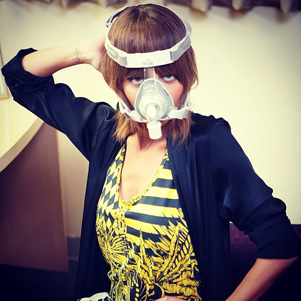 Nicole Richie stirred the pot with a snap touting her affinity for masks. Source: Instagram user nicolerichie