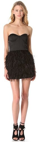 Blaque label Feather Party Dress