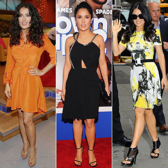 Salma Hayek's Busy Week of Wardrobe Changes