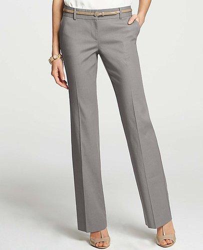 Tall Modern Pinstripe Stretch Cotton Trousers