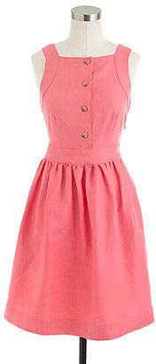 Button-front dress in linen
