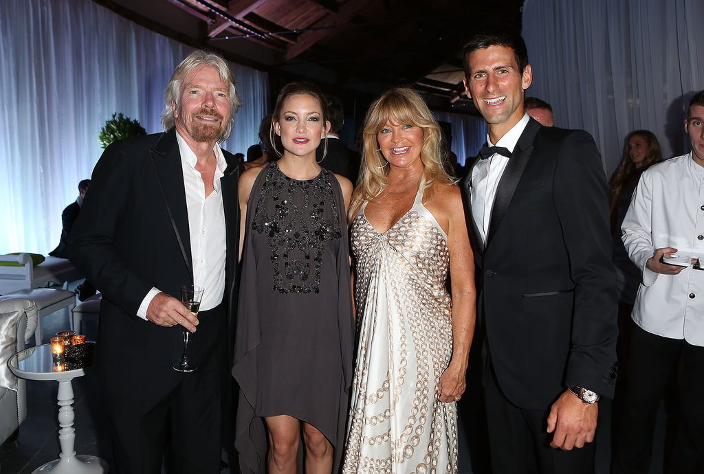 Kate Hudson and Goldie Hawn kept it in the family when they attended the inaugural Novak Djokovic Foundation Gala Dinner in London on July 8. There, they met up with Richard Brandon, left, and Novak himself, on the right.