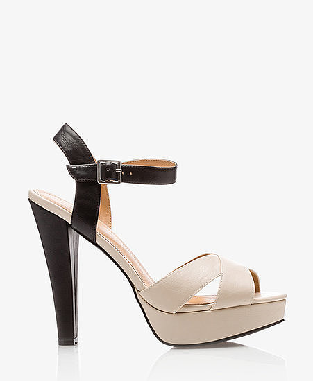 Pick up these Forever 21 colorblock heels ($30) for  a sexy play on black and white that will go with everything.
