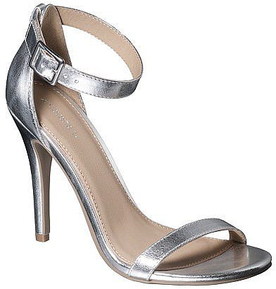 These Xhilaration Susy strappy heels ($30) offer a sleek silhouette and a wear-with-anything flash of metallic.