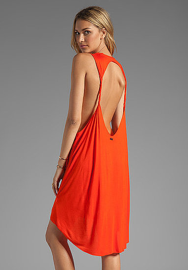 What's sexier than the slinky open back or notice-me red hue on this Obey Outlaw dress ($41).