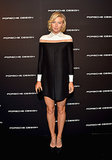 Looking leggy as ever, Maria Sharapova helped Porsche Design and Vogue reopen the car brand's Beverly Hills boutique in a colorblock Valentino shift.