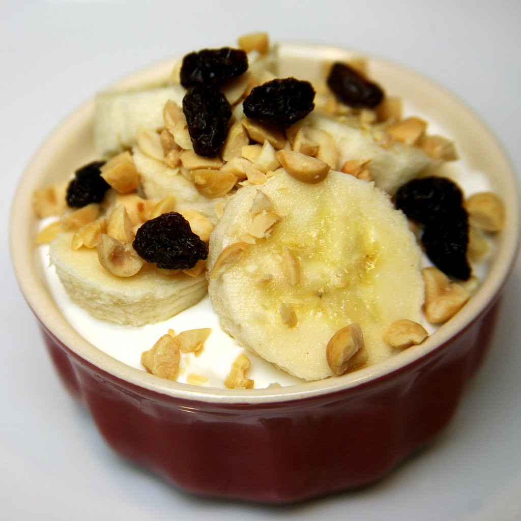 Bananas With Chopped Peanuts and Raisins