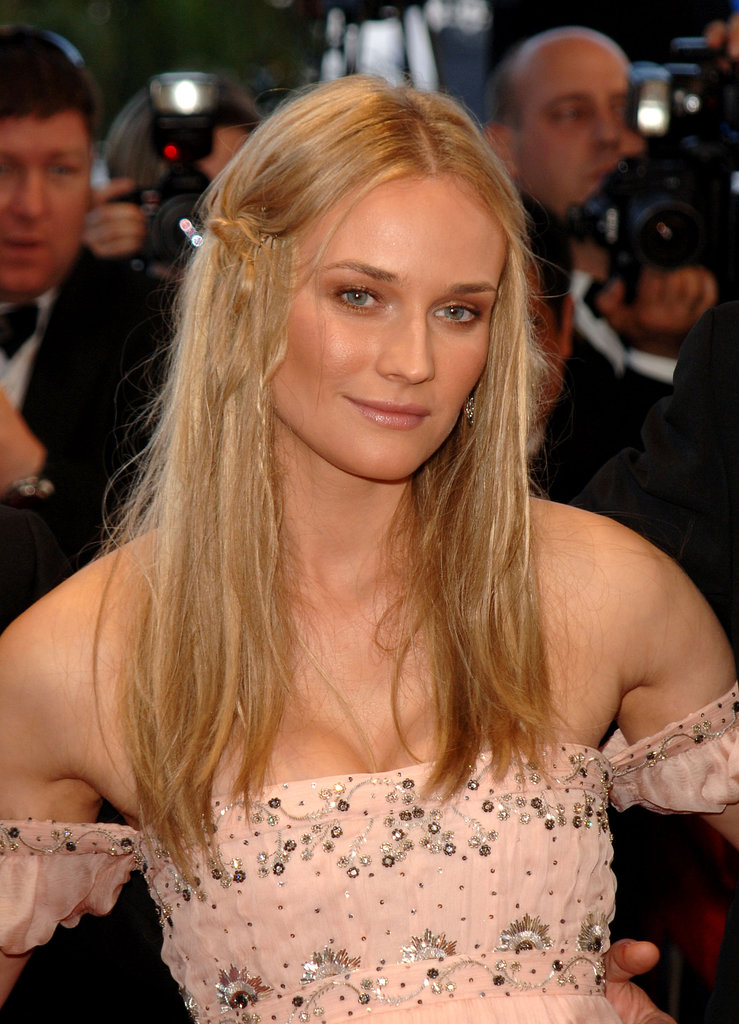 At the premiere of Joyeux Noel at the 2005 Cannes Film Festival, a bronzed Diane styled her hair in a pinned-back boho style, complete with loose braids and tousled strands.
