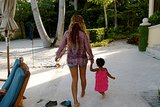 Beyoncé Knowles was led down a path by Blue Ivy. Source: Tumblr user Beyoncé