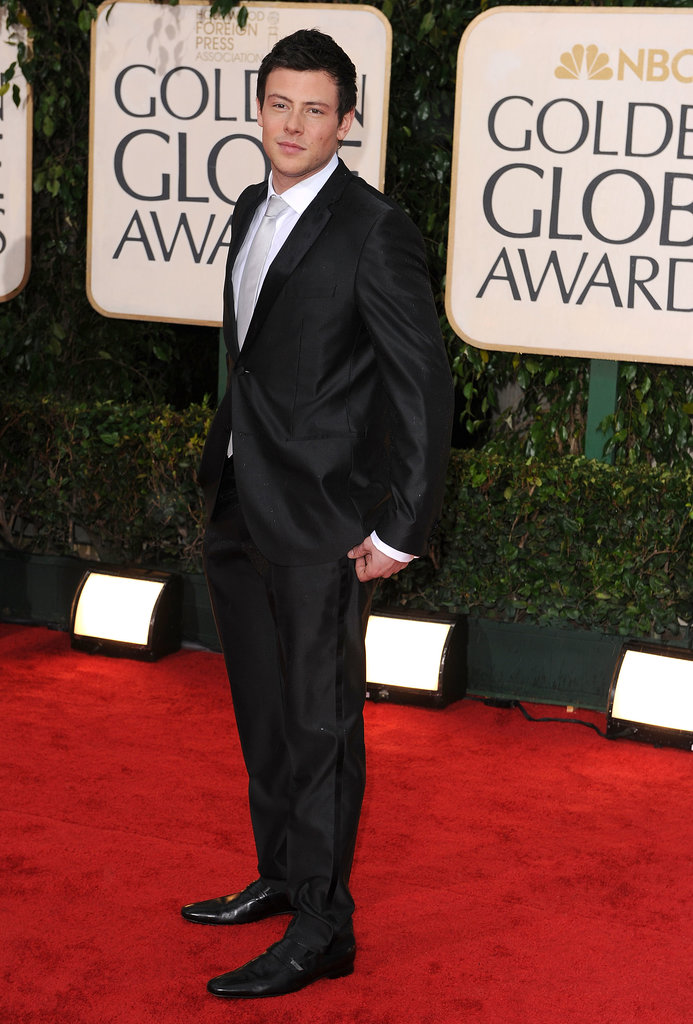 Cory Monteith looked dapper on the red carpet at the 2010 Golden Globes in Beverly Hills.