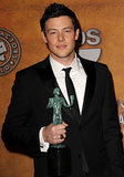 Cory Monteith posed with his award at the 2010 SAG Awards.