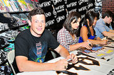 Cory Monteith signed autographs in Pennsylvania in August 2009.