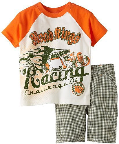 Little Rebels Boys 2-7 Two-Piece Road Rings Racing Short Set