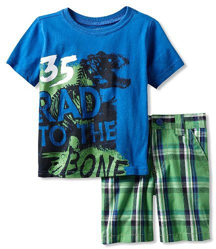Z Boyz Wear by Nannette 2-7 2 Piece Knit Pullover And Woven Short