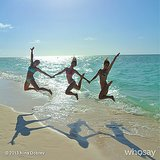 Nina Dobrev took an awesome jumping shot at the beach! Source: Nina Dobrev on WhoSay