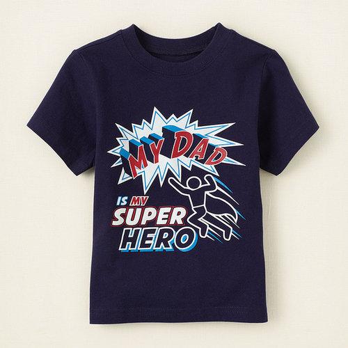 Superhero dad graphic tee
