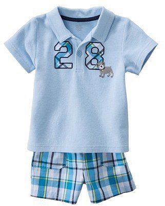 JUST ONE YOU® Made by Carters Infant Toddler Boys' 2 Piece Set - Light Blue