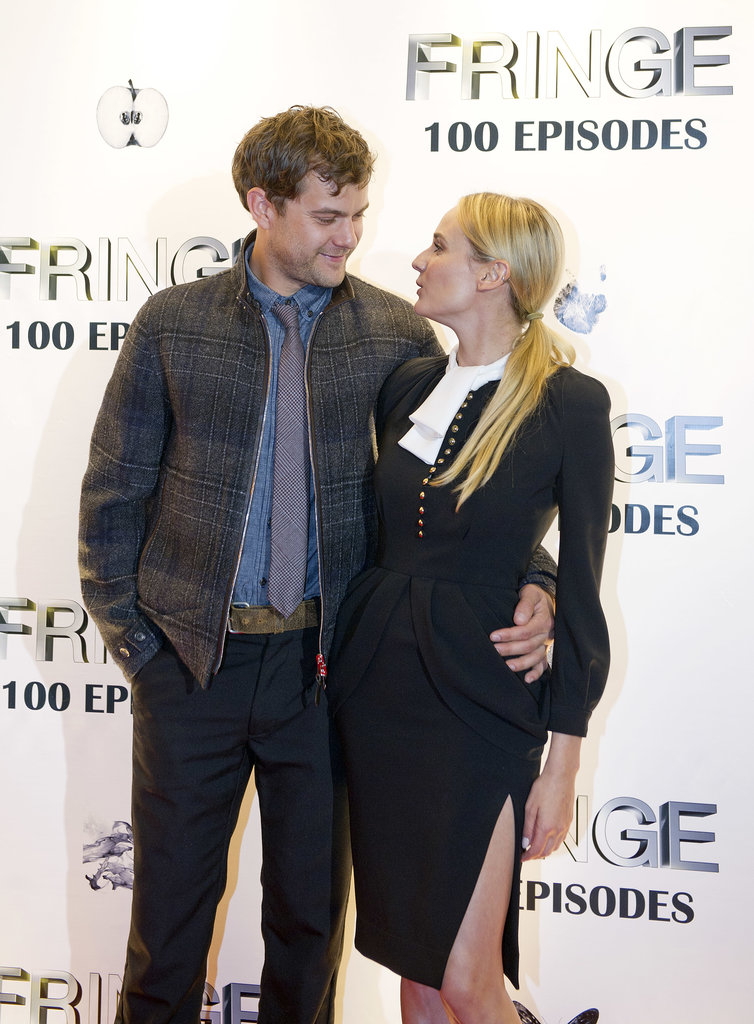 Diane Kruger supported Joshua Jackson when his show Fringe celebrated 100 episodes in Dec. 2012 in Vancouver.