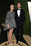 The couple matched in monochrome at the Vanity Fair Oscar party in Feb. 2013.