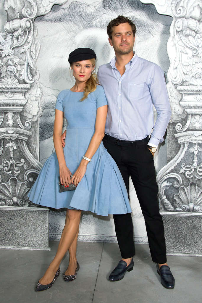 Diane Kruger and Joshua Jackson were very chic at the Chanel Haute Couture show in July 2012.