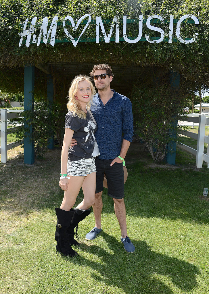 The couple hit up the H&M Loves Music area at Coachella in Apr. 2013.
