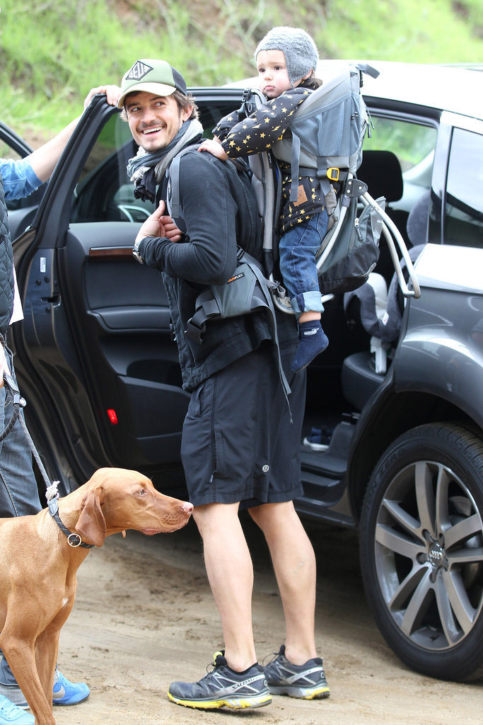 Orlando and Flynn on a hike in Runyon Canyon in LA in Dec. 2012.