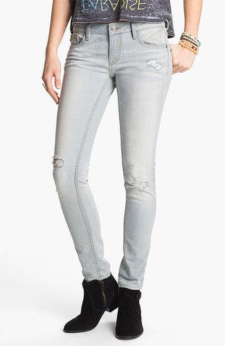 Vigoss 'Thompson' Destroyed Skinny Jeans (Juniors)