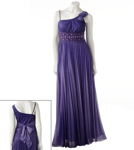 Speechless glitter asymmetrical dress - juniors