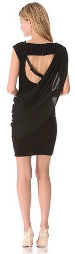 Alice + olivia Buckle Strap Drape Dress