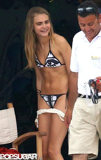 Cara Delevingne prepared for some water fun.