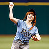 Carly Rae Jepsen Throwing the First Pitch | Video