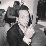 "By party's end, Derek Blasberg had to call it a night with his ""it's time to go home to New York"" face. Source: Instagram user derekblasberg"