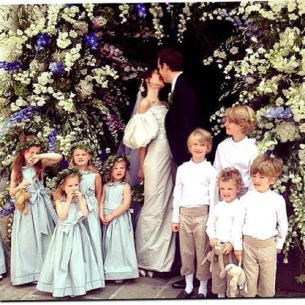 The bride posted this ultra-adorable shot! Source: Instagram user carosieber