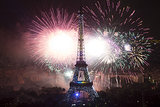 The Eiffel Tower was all aglow on Bastille Day.