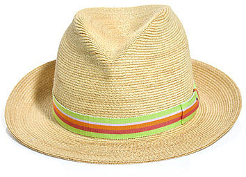 Anthony Peto Hats Gervaise contrast stripe panama hat